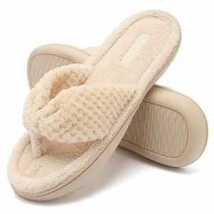 3e1989b7997c CIOR Fantiny Women s Cozy Memory Foam Spa Thong Flip Flops House Indoor  Slippers